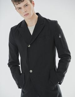 [GOER] TWO BUTTON LONG COAT