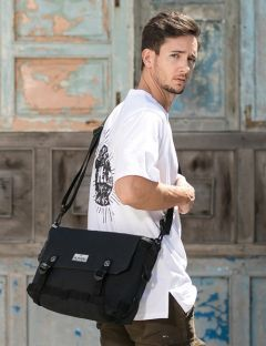 [PLAYIAN] SNAP MESSENGER BAG [CM02UBLK]