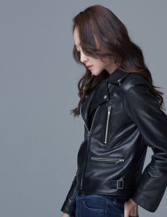 [SPERONE] Woman's Basic Rider Jacket [Black]