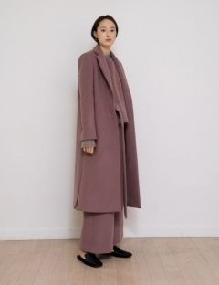 [NOTA] WARM BELTED LONG COAT [DUSTY PINK]