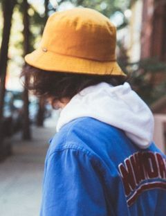 [WKNDRS] WASHED COTTON BUCKET HAT [MUSTARD]