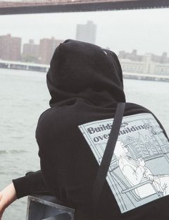 [WKNDRS] CITY WALKS HOODIE [BLACK]