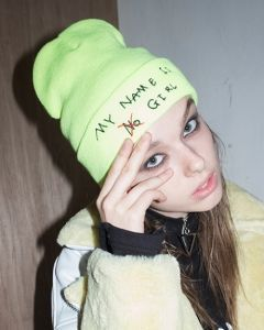 [B ABLE TWO] Signature Graphic Beanie [LIME]