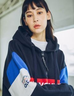 [GROOVERHYME] 2017 COLOR BLOCK 1999 HOODIE OVER FIT [GHD009F43]