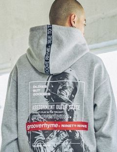 [GROOVERHYME] 2017 BIKE MAN HOODIE OVER FIT [GHD025F43]