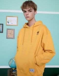 [CANLEAP] CANLEAP 1ST SCHEDULE OVER FIT HOODIE [YELLOW]