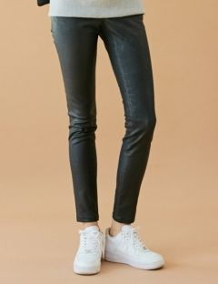 [BONNIE&BLANCHE] COATED SKINNY JEANS [BLACK]