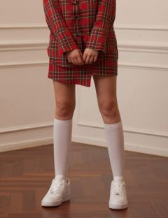 [TARGETTO] ASYMMETRY SKIRTS RED TARTAN CHECK