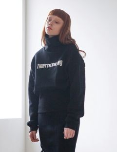 [TARGETTO] LONG BANDING SWEAT SHIRT BLACK