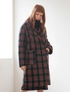 [TARGETTO] FOUR POCKET CHECK COAT BLACK CHECK