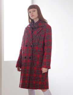 [TARGETTO] FOUR POCKET CHECK COAT RED CHECK