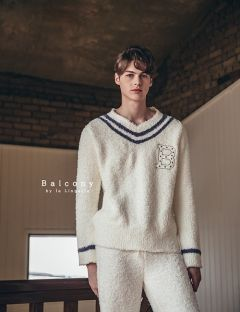 [BALCONY] V-neck Wafen men set
