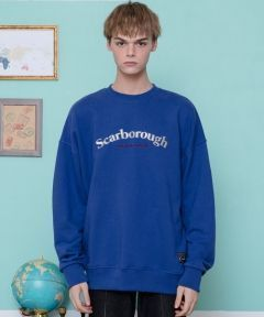 [CANLEAP] CANLEAP SCARBOROUGH OVER-FIT CREWNECK [LIGHT BLUE]