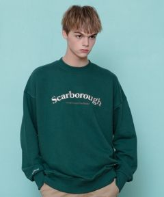 [CANLEAP] CANLEAP SCARBOROUGH OVER-FIT CREWNECK [GREEN]