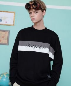[CANLEAP] CANLEAP CLOUGHTON OVER-FIT CREWNECK [BLACK]