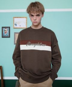 [CANLEAP] CANLEAP CLOUGHTON OVER-FIT CREWNECK [BROWN]