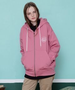 [CANLEAP] CANLEAP TRIP TO EAST HOOD ZIP-UP [PINK]