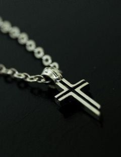 [BLESSED BULLET] [SV925]Mini Cross Necklace
