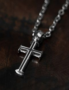 [BLESSED BULLET] [SV925]Silent Small Cross Necklace