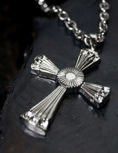 [BLESSED BULLET] [SURGICAL]BEAMS CROSS NECKLACE