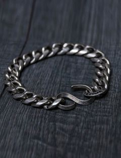 [BLESSED BULLET] 12mm Chain logo bracelet