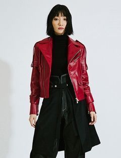 [DOZOH] DZ RED LAMBS LEATHER JACKET