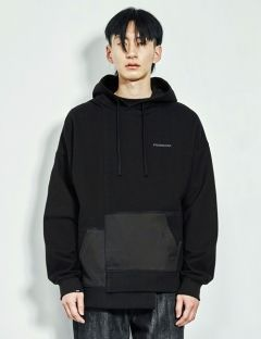 [FROMMARK] ASYMMETRY PULLOVER HOODIE [BLACK]