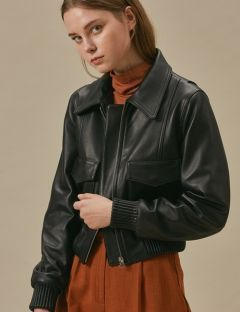 [TEAM SCULPTOR] SHEEPSKIN A2-JACKET932 [BLACK]