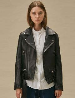 [TEAM SCULPTOR by sculptor] SHEEPSKIN RIDERS JACKET 930 [BLACK]