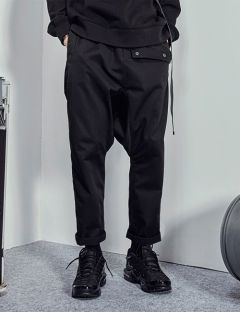 [FROMMARK] DROP CROTCH PANT [BLACK]