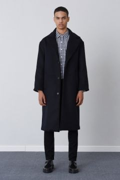 [CHUCK] FW17 OVER FIT LONG COAT [BLACK]