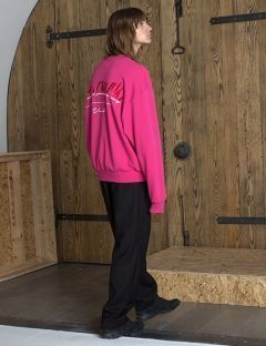 [VUIEL] UNISEX ATTENTION SWEATSHIRT [PINK]