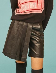 [EYEYE] FAKE LEATHER CULOTTES [BLACK] [EEOE4SKR01W]