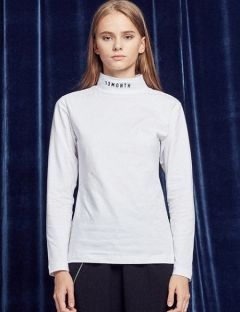 [13month] TURTLENECK LONG SLEEVED TEE (WHITE)