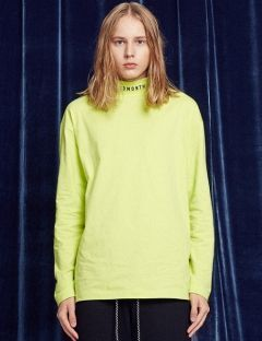 [13month] TURTLENECK LONG SLEEVED TEE (LIME)