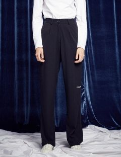 [13month] WIDE BANDING PANTS (BLACK)