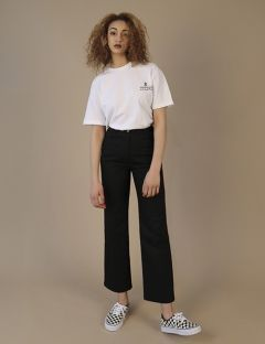 [ZISZAS] high waist pants Black