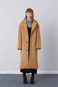 [CHUCK] FW17 OVER FIT LONG COAT [CAMEL]
