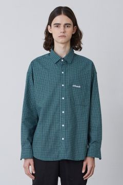 [CHUCK] FW17 OVER FIT CHECK SHIRT 01 [GREEN]