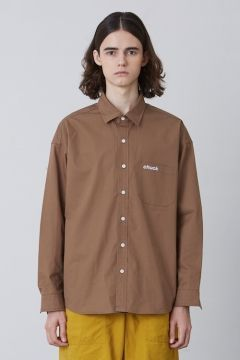 [CHUCK] FW17 OVER FIT SHIRT [BROWN]