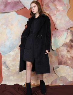 [S.Y.LEE] 17 A/W DOUBLE 3 BUTTON OVERSIZED COAT [black]