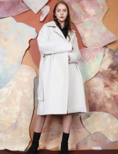 [S.Y.LEE] 17 A/W DOUBLE 3 BUTTON OVERSIZED COAT [ivory]