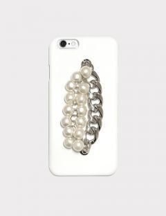 [MIDNIGHT MOMENT] pearl chain white case