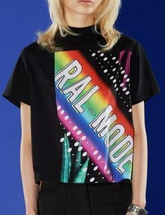 [RALMODE] RAINBOW SHIRT [BLACK]