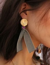 [AUGUST HARMONY] Bliss multi drop earring [Purple]