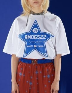[RALMODE] STAR T-SHIRT [WHITE]