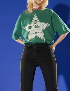 [RALMODE] STAR T-SHIRT [GREEN]