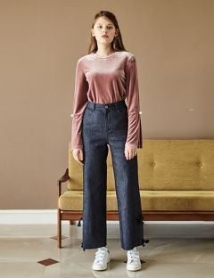 [INES] OVER DENIM PANTS