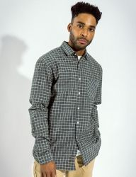 [QT8] MK Window Check Shirt [Grey]