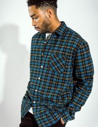 [QT8] MK Madras Check Shirt [Yellow]